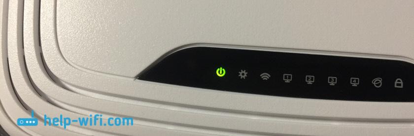 На роутере TP-Link горит только лампочка питания
