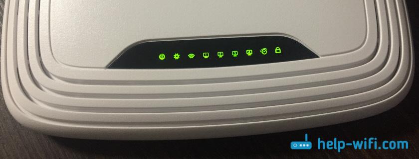 На TP-Link мигают все лампочки, или горят и не гаснут