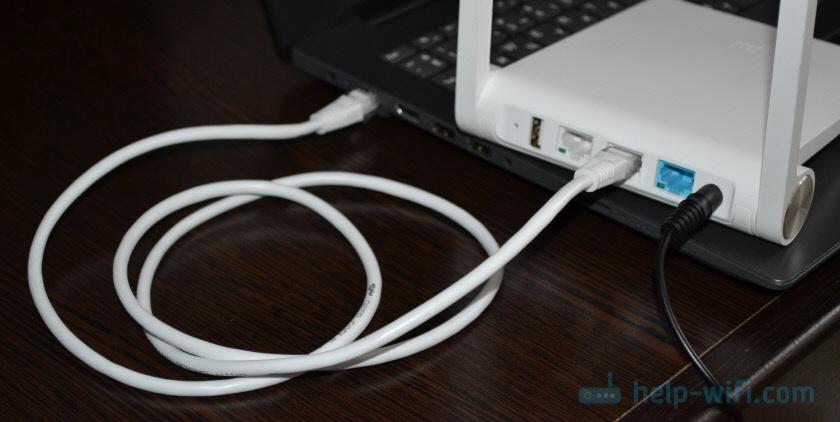 Подключение к роутеру Xiaomi по LAN для входа в web-интерфейс