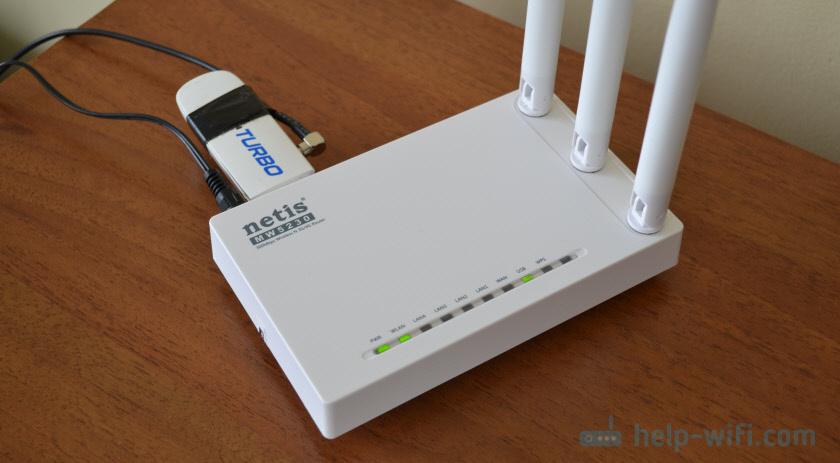 Netis MW5230 с USB модемом