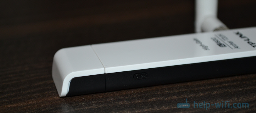 Кнопка WPS на Wi-Fi адаптере TP-Link