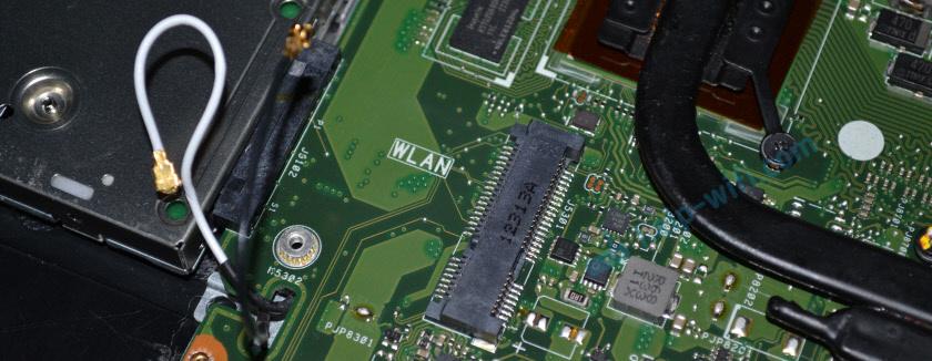 ПортMini PCIe для подключения WLAN на материнской плате ноутбука