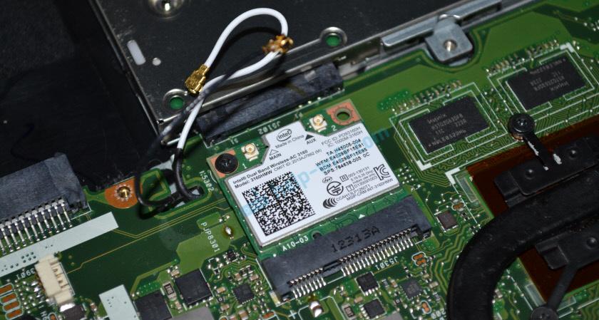 Установка Wi-Fi/Bluetooth модуля в ноутбук