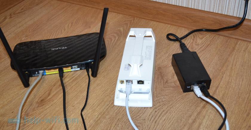Схема подключения интернета к точке доступа TP-Link