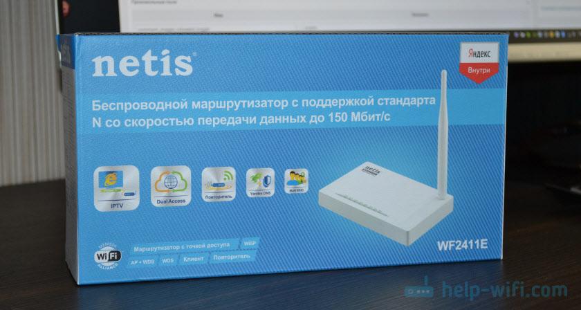 Упаковка роутера Netis WF2411E