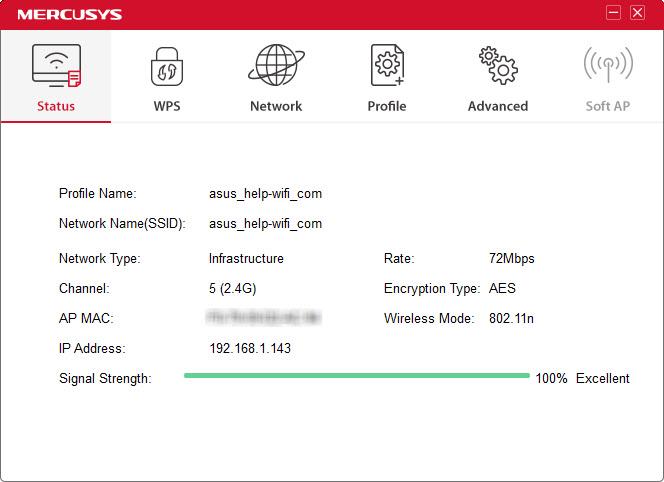 MERCUSYS Wireless Configuration Utility
