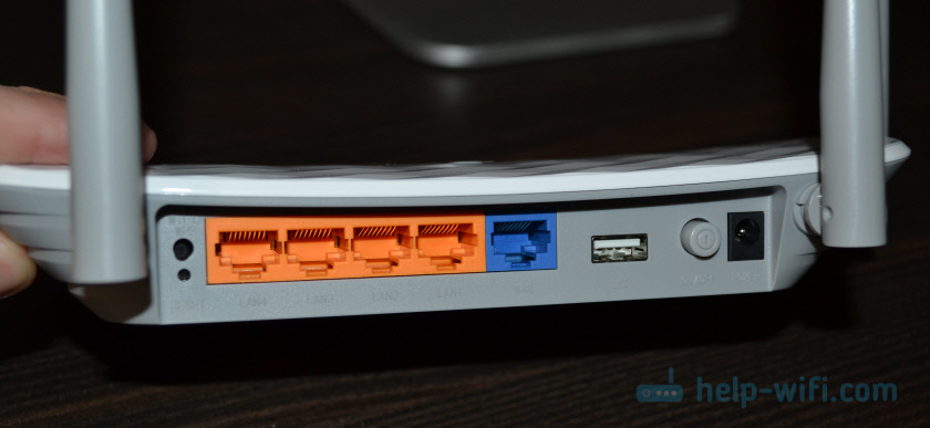 Кнопки и порты TP-Link Archer C5 V4