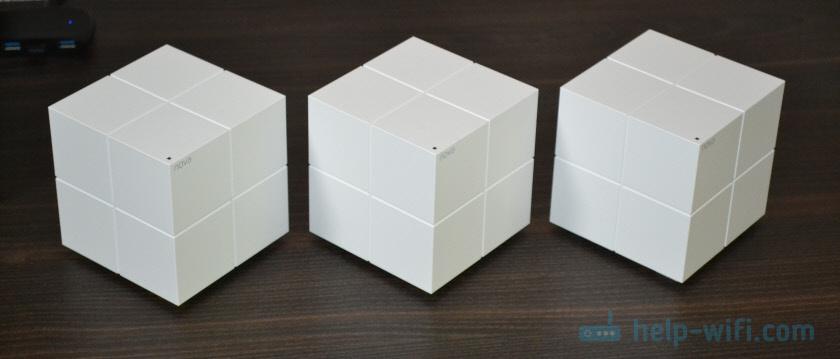 Три модуля Mesh-системы Тенда