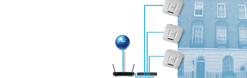 Бесшовная Wi-Fi сеть в отеле, магазине, офисе, кафе