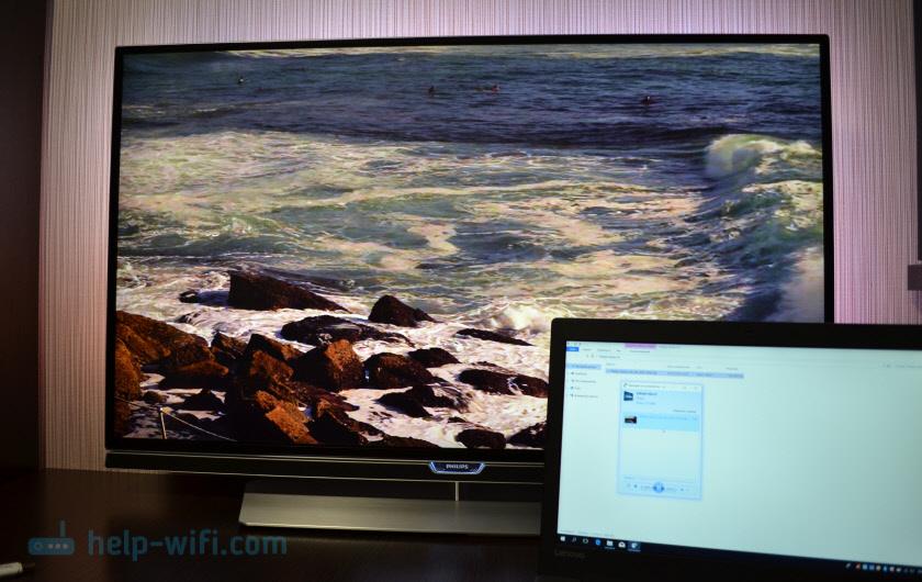 Воспроизведение фото, музыки и видео с Windows на Smart TV телевизоре