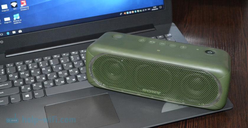 Bluetooth-колонка с ноутбуком и компьютером