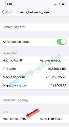 Настройка DNS в iOS