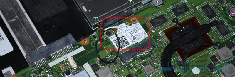 Wii-Fi модуль внутри ноутбука