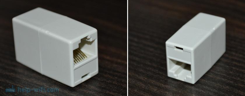 Джойнер – переходник для соединения сетевого кабеля