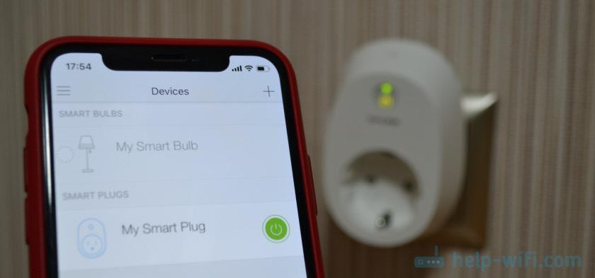 Управление Wi-Fi розеткой TP-Link с iPhone