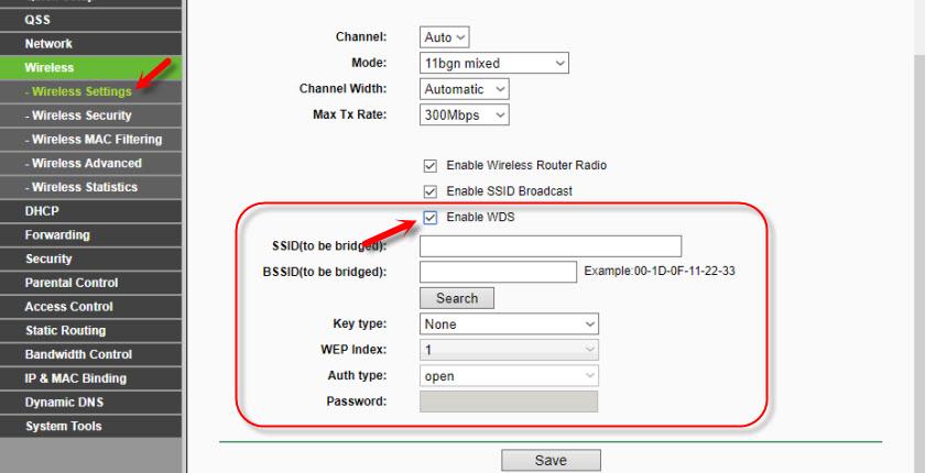 Соединение TP-Link TL-WR841ND с другим роутером по Wi-Fi