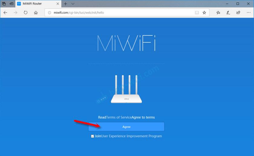 Вход в web-интерфейс роутера Xiaomi Mi Wi-Fi Router 3