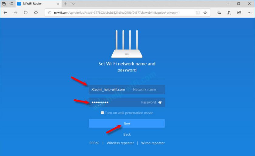 Настройка WiFi сети на Xiaomi Mi Wi-Fi Router 3
