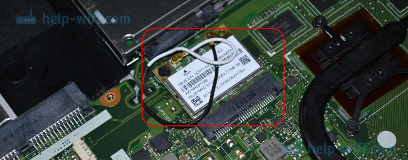Как выглядит Bluetooth модуль в ноутбуке