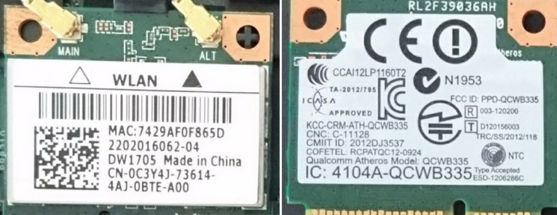 Замена Wi-F модуля на 2.4 GHz и 5 GHz в ноутбуке Dell