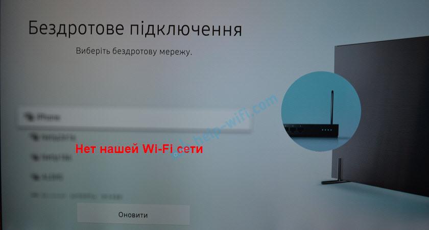 Телевизор Samsung не видит Wi-Fi