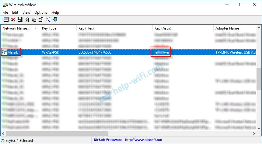 Восстанавливаем ключ безопасности сети Wi-Fi через программу WirelessKeyView
