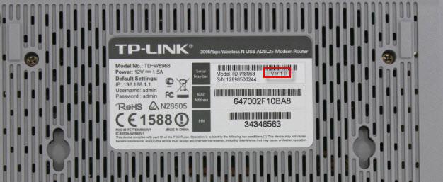 Аппаратная версия TP-Link TD-W8968: восстановление прошивки