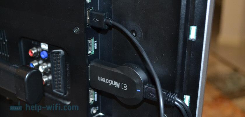 Подключение MiraScreen к телевизору по HDMI