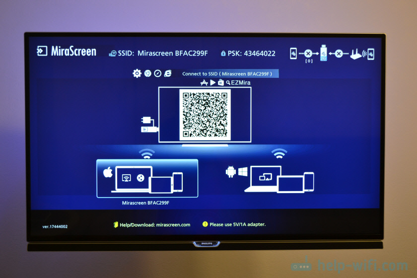 Настройка MiraScreen MX Wireless Display на телевизоре