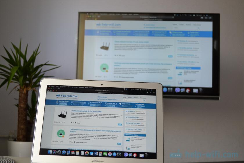 Подключение Макбука и iMac к телевизору по Wi-Fi через AirPlay