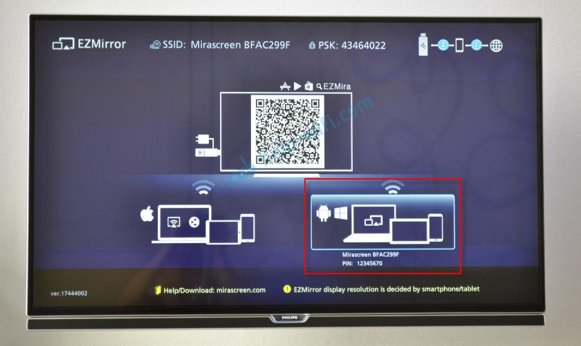 Подключение ноутбука к телевизору через MiraScreen/AnyCast