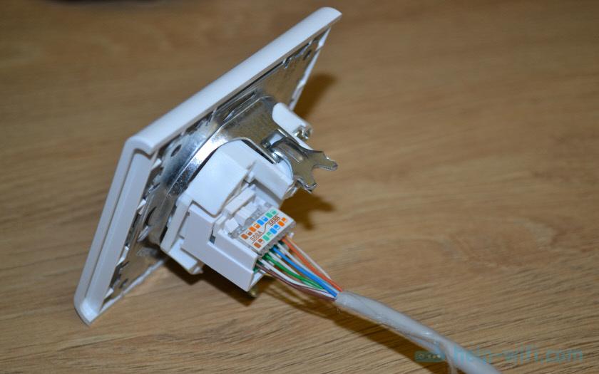 Сетевая розетка подключена к витой паре