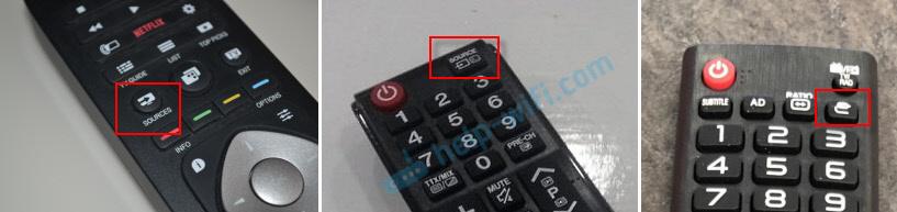 Переключится на USB на пульте телевизора